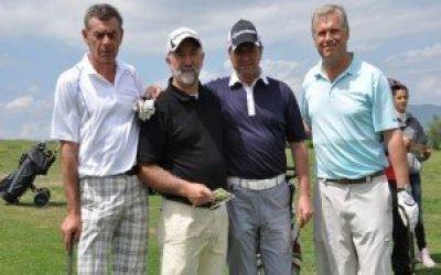 Attila Kadar și Sabina Suciu au dominat Cupa Transavia la golf, de la Pianu de Jos
