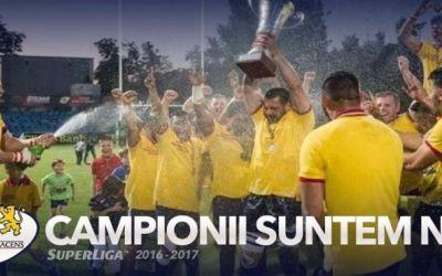 Finală la limită: Timișoara Saracens, câștigătoarea SuperLigii de rugby