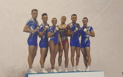 România a câștigat medaliile de aur pe echipe la Europenele de gimnastică aerobică
