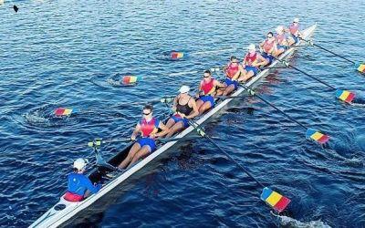 Aur pentru echipajul feminin de 8+1 al României la Mondialele de canotaj