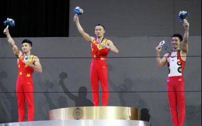 Asiaticii au monopolizat podiumul la Mondialele de gimnastică, în proba de individual compus