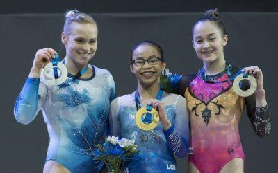 Morgan Hurd, medaliată cu aur în proba de individual compus la CM de gimnastică de la Montreal