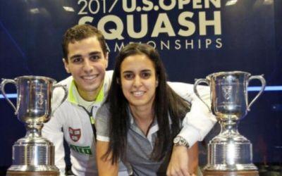 Premieră mondială: soț și soție, campioni mondiali în aceeași zi, în probe diferite, la squash