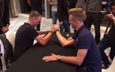 VIDEO / Duel inedit între Froome și Kittel ... la skanderbeg