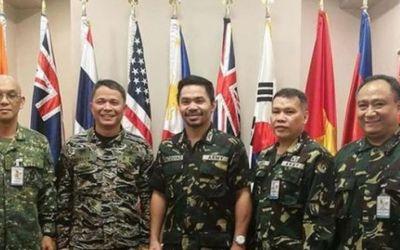 Fostul boxer Manny Pacquiao a fost promovat în armata filipineză