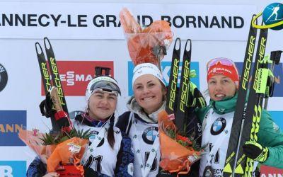 Biathlon: Justine Braisaz câștigă cursa cu start în bloc de la Annecy și obține prima victorie din carieră