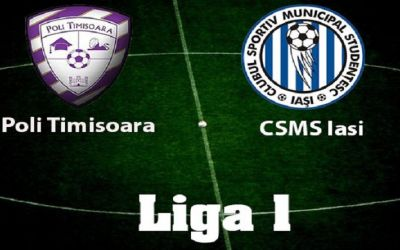 Liga 1: Poli Iași se impune la Timișoara și urcă pe loc de play-off