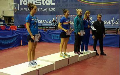 Irina Ciobanu, campioană națională la tenis de masă. Eliza Samara s-a clasat pe 3