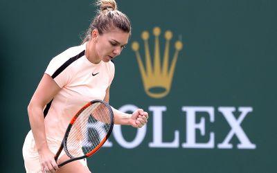 Meci solid pentru Simona Halep și calificare în sferturi la Indian Wells