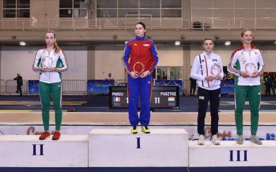 Bianca Pascu, medaliată cu aur la etapa de Cupă Mondială de sabie de la Atena