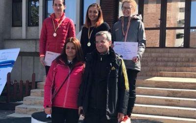 Medaliații Campionatului Național de Marș: Andreea Arsine și Alin Știrbu, aur la seniori