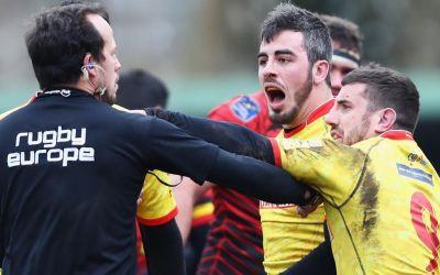 Cinci rugbyști importanți ai Spaniei, suspendați pentru agresare arbitrului român Iordăchescu