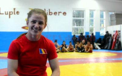 Alina Vuc a devenit vicecampionă europeană la lupte