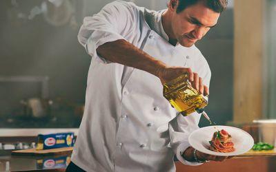 VIDEO / Roger Federer, în rol de bucătar într-o nouă serie de reclame la paste