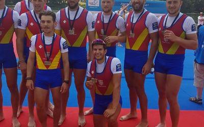 Bronz pentru echipajul de 8+1 al României la Cupa Mondială de la Belgrad