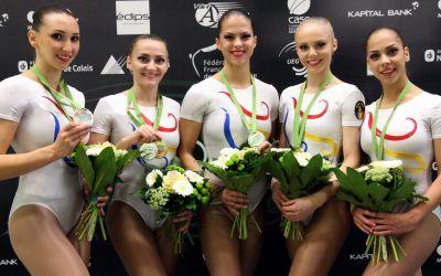 România s-a întors cu patru medalii de la Mondialele de gimnastică aerobică din Portugalia