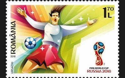 Romfilatelia lansează timbre dedicate Cupei Mondiale din Rusia