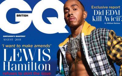 Pasionat de modă, Hamilton pozează în kilt pe prima pagină din GQ