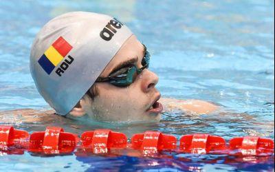 Robert Glință a terminat al patrulea în finala europeană de 100 m spate