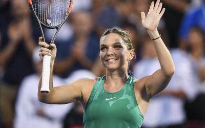 Spectacol și zâmbet. Simona Halep, semifinalistă la Rogers Cup. Reacția româncei
