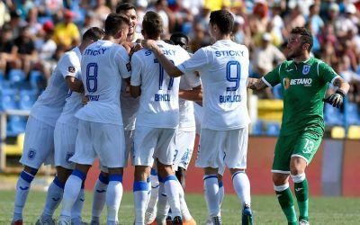 Caniculă și goluri. U Craiova a provocat primul eșec pentru Dunărea Călărași în Liga 1