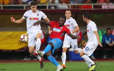 Salvați de Gnohere. FCSB o elimină pe Hajduk Split și va juca în play-off-ul Europa League