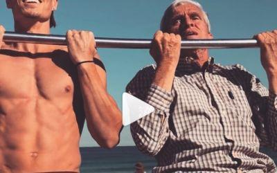 VIDEO / Un bătrânel de 72 de ani face tracțiuni de la egal la egal cu tinerii