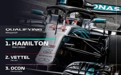 Formula I: Lewis Hamilton obține pole position-ul la Spa Francorchamps