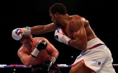 Anthony Joshua l-a învins pe Aleksandr Povetkin în lupta pentru titlul mondial