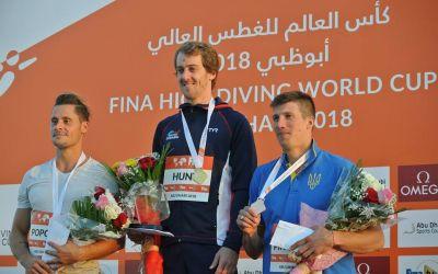VIDEO / Performanța carierei ! Constantin Popovici, argint la Cupa Mondială de sărituri în apă de la Abu Dhabi