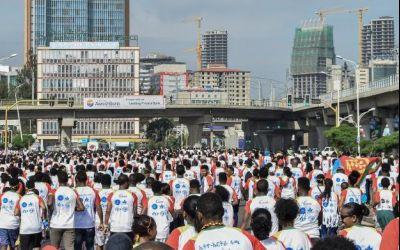 Alergarea, sportul păcii. Moment istoric celebrat printr-o alergare de amploare