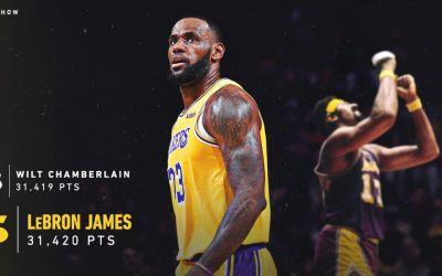 VIDEO / LeBron James a devenit al cincilea cel mai bun marcator din NBA
