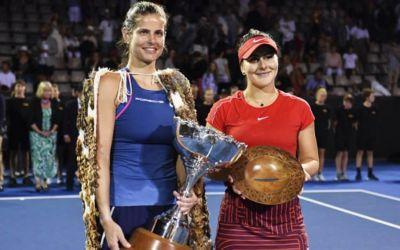Julia Goerges a învins-o pe Bianca Andreescu în finala de la Auckland