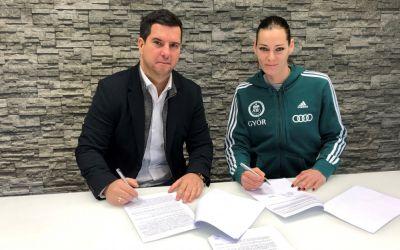 Anita Gorbicz și-a prelungit contractul cu Gyor