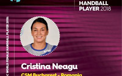 Cristina Neagu, aleasă cea mai bun handbalistă a lumii în 2018 de către specialiști și fani
