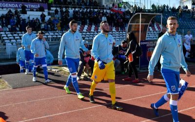 CSU Craiova câștigă duelul de la Pitești cu Hermmanstadt și urcă temporar pe locul doi