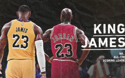 NBA: LeBron James a mai depășit un record al lui Michael Jordan