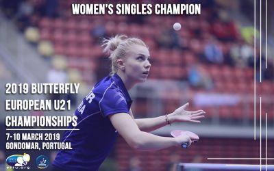 Adina Diaconu, campioană europeană de tineret la tenis de masă. Rareș Sipos, medaliat cu bronz