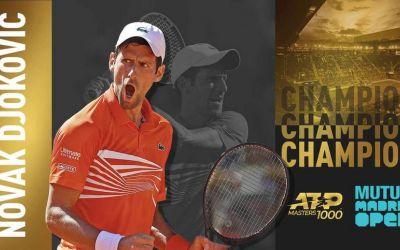 Djokovic, prea puternic pentru Tsitsipas, în finala de la Madrid