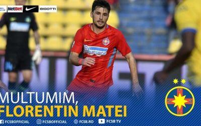 FCSB i-a reziliat contractul lui Florentin Matei