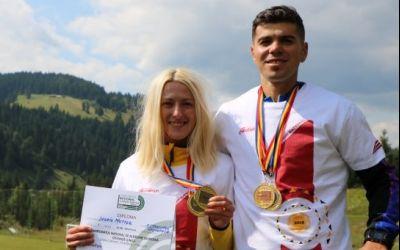 Ingrid Mutter și Cristian Moșoiu au câștigat Campionatul Național de alergare montană pe distanță lungă