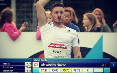 Sulițașul Alexandru Novac a câștigat reuniunea atletică de la Espoo