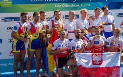 Echipajul masculin de patru rame al României obține argintul la Mondiale