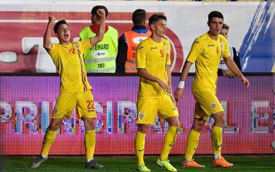 Descătușare pe final. Naționala de tineret a învins Ucraina cu 3-0