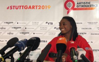 Simone Biles, campioană mondială la individual-compus pentru a cincea oară