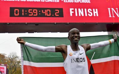 Moment istoric. Primul maraton sub 2 ore, reușit de Eliud Kipchoge