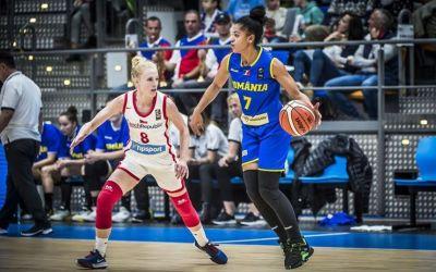 Naționala feminină de baschet a României, învinsă la un punct de Cehia