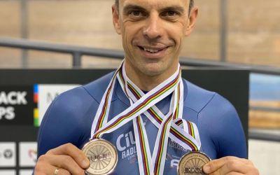 Eduard Novak, trei medalii la Mondialele de paraciclism pe velodrom