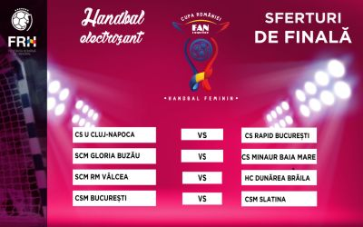 S-au stabilit sferturile Cupei României la handbal feminin