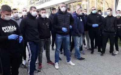 VIDEO / Fanii lui Hajduk Split au mutat practic un spital